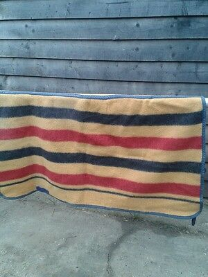 """Pure Wool Newmarket Striped Excersize Rug 4ft3"""""""