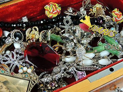 Grandma Lot Jewelry filled Music box Vintage 2Now Necklaces Brooch Pins Bracelet