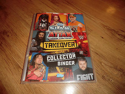 Slam Attax Takeover Topps Wrestling Binder With 149 Cards + Extras Bargain