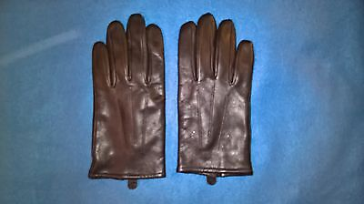 Mens Brown Leather Gloves M&S Small