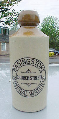 RARE STONEWARE GINGER BEER FROM THE BASINGSTOKE MINERAL WATER Co  (DOULTON)