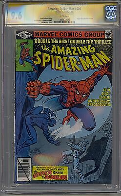 Amazing Spider-Man #200 Cgc 9.6 Ss White Pages Signed Stan Lee