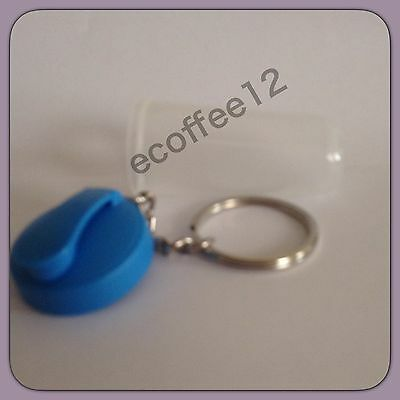 TUPPERWARE New MINI QUICK SHAKE KEYCHAIN Raindrop Blue Tiny Treasures