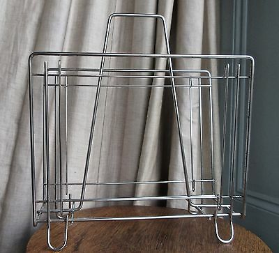 Mid Century/Chrome wire magazine rack/Vintage/collectable/1950-60's/Modernist