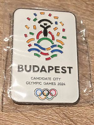 Budapest Candidate City Olympic Games- 2024- Pin Badge- New And Sealed