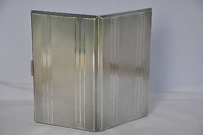 Solid Silver Large Art-Deco Card / Cigarette Case. 216g.