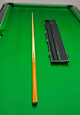 2 Piece Snooker / Pool Cue and Case. 9mm tip. Ash Shaft