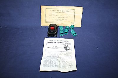 Lionel 390-52 390C DPDT Switch w/Envelop, Wires and HO Instructions  NOS