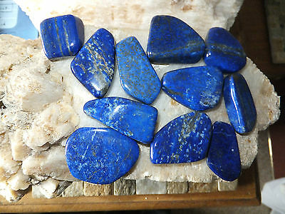 LAPIS LAZULI NATURAL STONES x 11 PIECES TOTAL 176g [ 880Ct]  MF1425