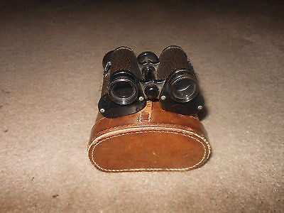 Antique A Clarkson & Co Binoculars with Original Leather Case