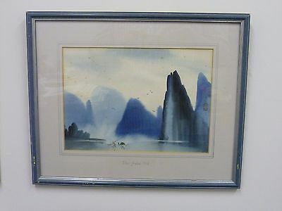 Antique Chinese Painting -Cormorant fishing in Zhangjiajie - Signed - dated 1923