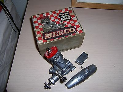 Merco 35 6cc Glow Model Airplane Engine in Box with Silencer