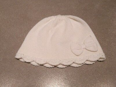 Next Baby Girl Cream Knitted Hat Age 0-3 Months
