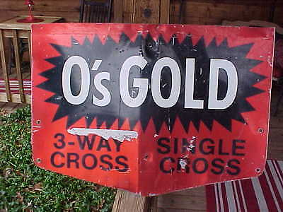 VINTAGE O's GOLD SEED CORN SIGN