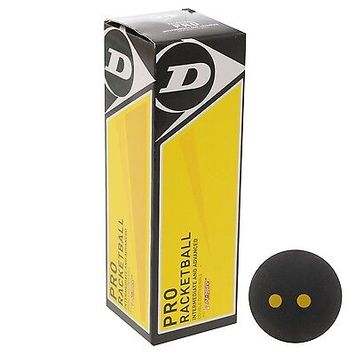 Dunlop Pro Racketball Sports Racquetball Squash Ball Accessories Black One Size