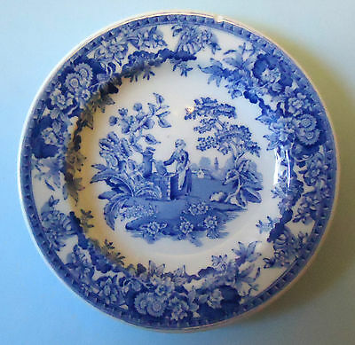 Spode Blue Room Collection Georgian Series Girl At Well Miniature Plate