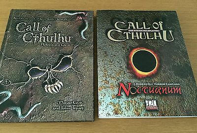 Call of Cthullu rpg d20 & Nocturnum expansion. Out of print and rare.