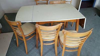 kitchen table and 6 chairs set - traditional set