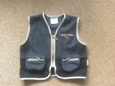 Boys vintage 1990s Steffens grey zip up waistcoat small approx age 3 - 4 years