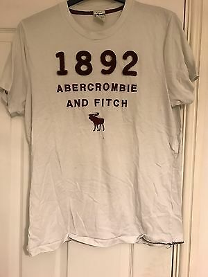 Abercrombie And Fitch Men's White T Shirt - Size X-Large