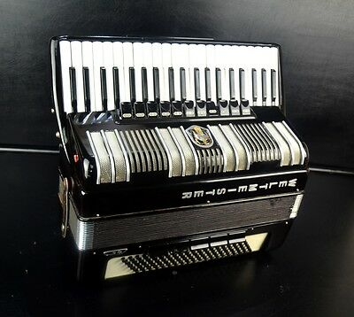 Professional German Top Piano Accordion Weltmeister S4+Brand New Straps~Cassotto