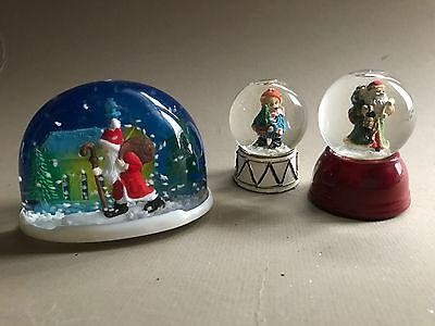 Set #2 Of Vintage Winter Snow Globes - 3 Included