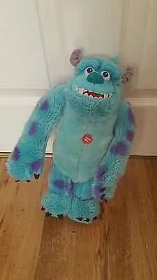 Talking Sulley Monsters University Scare Me Soft Toy Speaks 15 Phrases & Roars