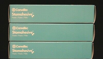 Convatec Stomahesive Paste, Lot of 3, 2 oz Tubes, # 183910 FRESH 2021
