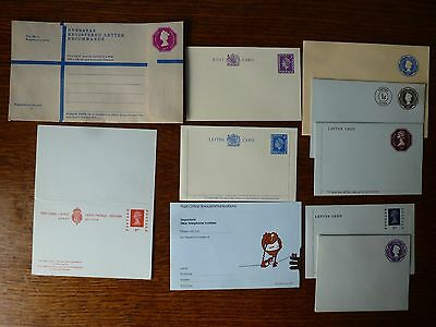 Collectable Postal Stationery Reg. Envelope Post Card With Reply Letter Cards