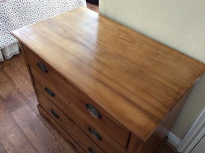 Satinwood Three Drawer Chest of Drawers(Edwardian) COLLECT OL5