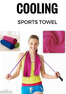 Ice Cold Gym Towel Cooling Sweat Absorbing Running Fitness Hiking Yoga Travel