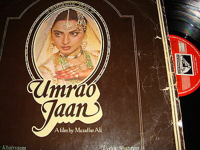 Classic Bollywood LP VINYL Record Soundtrack of Hindi Indian Film UMRAO JAAN