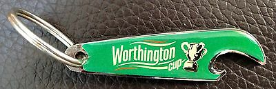 Worthington Cup Bottle Opener And Key Ring In Green - Good Condition