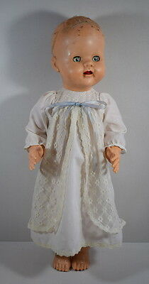 Vintage 1950's Hard Plastic Walking Doll By Bnd London. 20 Inches Tall