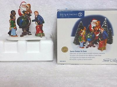 Dept 56 Snow Village Santa Comes To Town – Limited Edition 1999 - 550155