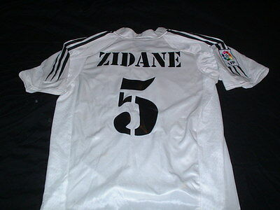Real Madrid Spain Espana Football Small Mans Vintage Zidane No5 Home Top France