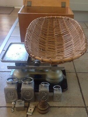 Vintage Weylux Guardian Baby Scales - With Weights And Case