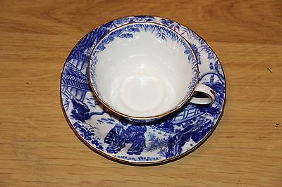 Dainty Royal Crown Derby Mikado Pattern Cup & Saucer Set  Willow IX 1946