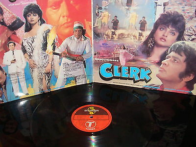 GATE FOLD Bollywood LP Vinyl Record Soundtrack of Hindi Indian Film CLERK