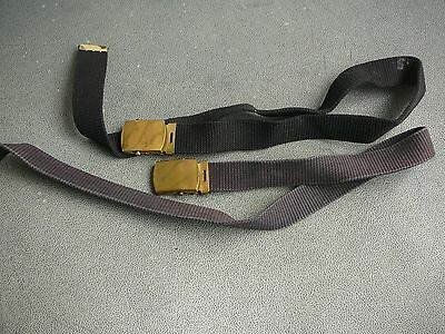 Korean War US Army 2 Military Belts and Buckles small