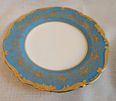"Coalport Hazelton Cobalt Blue Bread and Butter Plate Measures 6""  Blue/Gold"