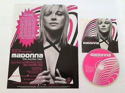 Madonna Die Another Day U.s. Promo Cd-Single And Full Page Advertisement