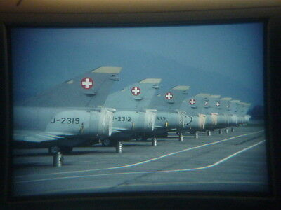 military aircraft slide Swiss Air Force Mirage III S several Buochs 1999 (bgv)