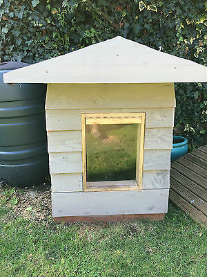 Dog kennel wooden insulated