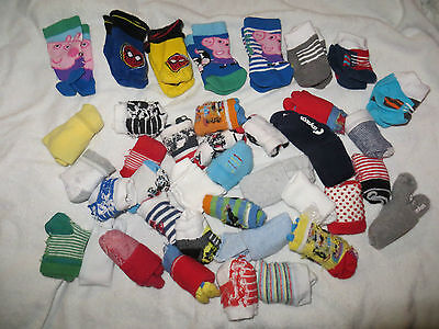 Boys 0-6 Huge Bundle Socks Spiderman George Pig Mothercare Shoe Trainer Bluezoo