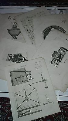 lot of old engraving