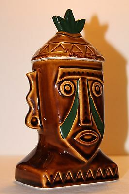 Rare~Long Sold Out~Disney Polynesian Resort Hotel PNG Tiki Mug w/ Lid disneyland