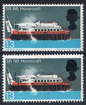 GB..ERROR.- RAISED ROOF/LOWERED BLACK - 1966 1/3d TECHNOLOGY - MNH - PHOS.