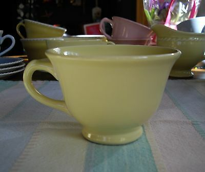 Vintage TS&T Lu-Ray Pastels YELLOW Tea Cup ~