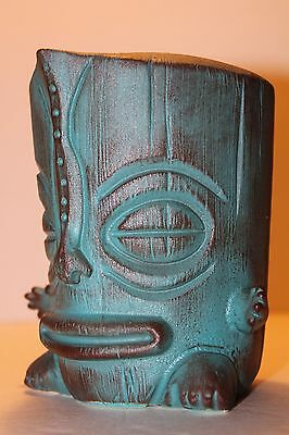 2009 Munktiki~Maka Le 'A Tiki Mug (Rare Blue Color Glaze) #65 Of 100 Ceramic Art